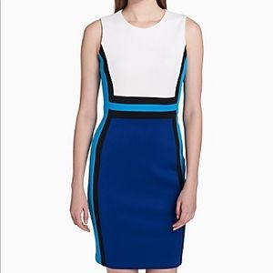 Calvin Klein- colorblock scuba sheath dress-10